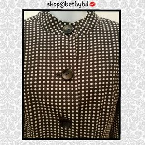 🆕️JUST IN➡️Bob Mackie Black Polka Dot Blazer EUC